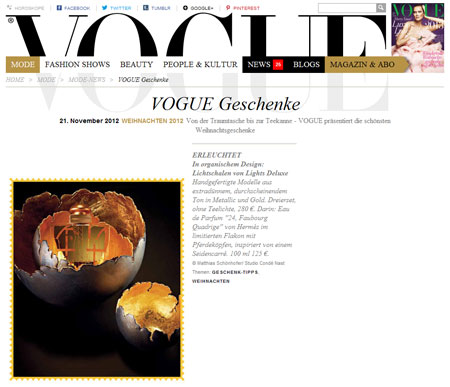 Screenshot VOGUE.de