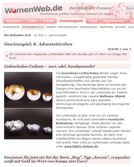 Screenshot WomenWeb.de